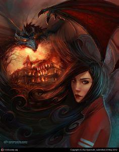 Dragon Mountain by Kai Spannuth | 2D | CGSociety
