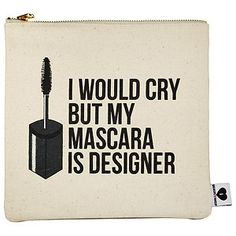 SEPHORA COLLECTION - Breakups To Makeup Bag in I Would Cry, But My Mascara is Designer #sephora