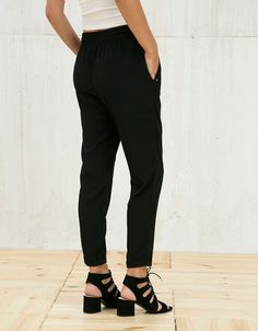 Bershka Japan - Baggy drawstring trousers