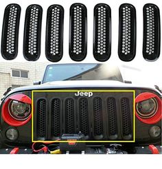 Sunroadway® Black Front Grill Mesh Grille Insert Kit For Jeep Wrangler Rubicon Sahara Jk 2007-2015 7PC Sunluway http://www.amazon.com/dp/B00UEC87QS/ref=cm_sw_r_pi_dp_gW-ywb1Z7KKN7
