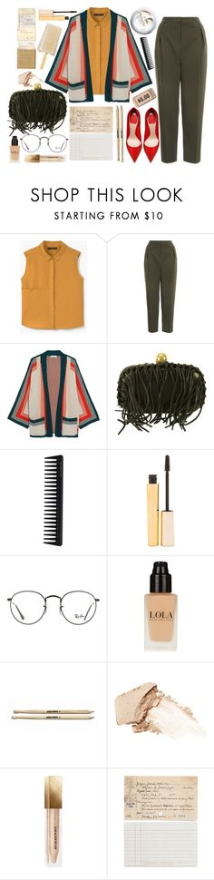 """""""Art — always a reality metaphor."""" by anna-modestovna ❤ liked on Polyvore featuring MANGO, Topshop, Equipment, Alexander McQueen, GHD, Stila, Ray-Ban, NARS Cosmetics, Burberry and Chronicle Books"""