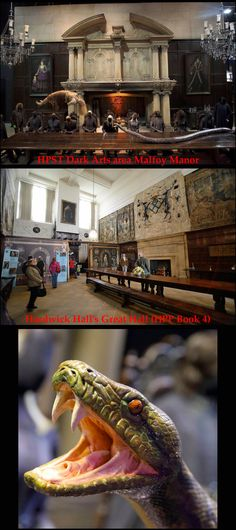 In October of 2014, the HPST opened a brand new Big Room display: the Dark Arts area. Dedicated to the sinister side of the wizarding world, it includes the Great Hall of Malfoy Manor. HPP Book 4 will help you visit the real-world place that provided inspiration for Malfoy Manor & its sets; Hardwick Hall (Site #47). Read more about HPST's Dark Arts area at http://insider.pottermore.com/2014/10/warner-bros-studio-tour-london-unveils.html #HarryPotterStudioTourLondon #HardwickHall