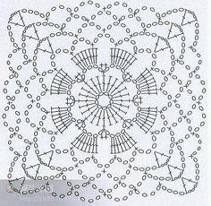 47 ideas for crochet granny square pattern mandalas photo tutorial Motifs Granny Square, Granny Square Crochet Pattern, Crochet Diagram, Crochet Chart, Crochet Squares, Crochet Granny, Crochet Stitches, Granny Squares, Crochet Motif Patterns
