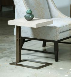 Modern Classics Blaine Chairside Table in Bronze | American Drew Furniture | Home Gallery Stores