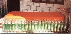 Cama  feito de garrafa pet