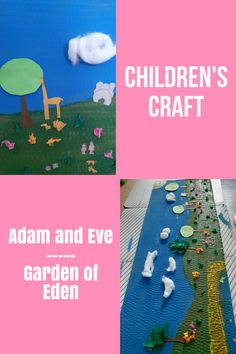 A super easy and fun craft about the Garden of Eden. Great to spend your Sabbath afternoon creating Paradise as a family. #gardenofeden #adamandeve #biblecrafts #kidscrafts #preschoolers Sunday School Activities, Bible Activities, Indoor Activities For Kids, Toddler Activities, Bible Crafts For Kids, Preschool Crafts, Easy Toddler Crafts, Christian Kids, Adam And Eve