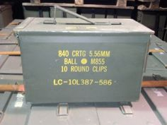 Military-Surplus-50-Cal-5-56-Ammo-Cans-Boxes-Very-Good-Used-Once
