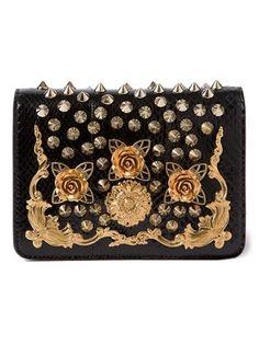 33a27e5666c Dolce   Gabbana embellished crossbody bag Black Leather Handbags, Leather  Purses, Classic Handbags,