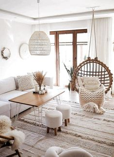 11 tips to bring bohemian style to your home - living room decor . - 11 tips to bring bohemian style to your home – Living room decor – 70 living room decorating id - Boho Living Room, Cozy Living Rooms, Apartment Living, Chic Apartment Decor, Living Room Modern, Home And Living, Living Room Designs, Scandinavian Minimalist Living Room, Minimalist Living Room Furniture