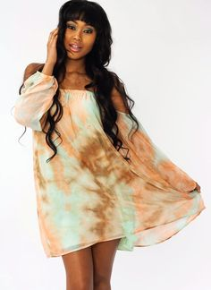 tie-dye dress $33.80 in MINTPEACH - New Dresses | GoJane.com