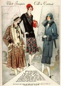 Love the middle one, and I already have the red cloche! - Found at Clothing of the 1920s