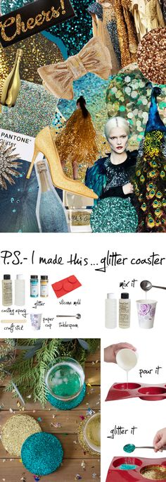 P.S.- I made this...Glitter Coaster with @NoKitchenSink #PSIMADETHIS #DIY