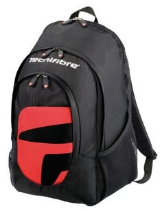 Tecnifibre V02 Amax Tennis Backpack by Tecnifibre. $34.00. Sneak off to the courts on your lunch break with the easy to tote Technifibre VO2 Max Backpack. The padded racquet compartment holds up to 2 racquets. The large main compartment has room for shoes, change of clothes, cans of balls and more. An outside accessory pocket features multiple pouches to keep phone, keys, wallet and pens & pencils organized. The ergonomic shoulder straps are padded and adjustabl...