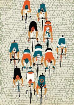 Rapha Spring Classics show, Manchester ‹ Eliza Southwood – Illustrator Cycling Paris Roubaix, Bike Illustration, Bike Poster, Cycling Art, Rapha Cycling, Bicycle Art, Design Graphique, Grafik Design, Illustrations And Posters