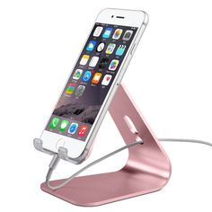 iPhone Stand, Pasonomi Aluminum phone Stand for Desk Compatible With iPhone 6/ 6 Plus, iPhone 7 SE 5S, Samsung Galaxy S7 S7 Edge S6 S6 Edge Note 5/4, LG and 7-10 inch Tablets, E-readers (Rose Gold). Solid Aluminum , Made of durable aluminum,take years of