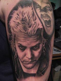 Bob Tyrrell knows where The Lost Boys are. #InkedMagazine #horror #vampire #tattoo #tattoos #Inked #ink #art #blackandgrey