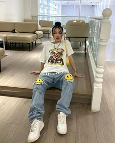 Tomboy Outfits, Cute Comfy Outfits, Tomboy Fashion, Teen Fashion Outfits, Retro Outfits, Streetwear Fashion, Stylish Outfits, Swagg, Aesthetic Clothes