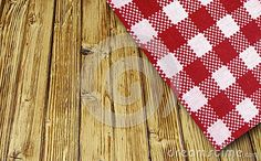 Wooden table in perspective with cloth