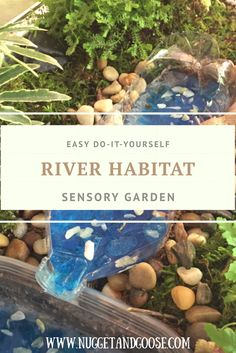 Forget Fairy Gardens! Little boys will love this easy river habitat sensory garden! This hands on activity introduces little ones to gardening while teaching them about North American river wildlife. Perfect for Tot School and preschool! Learn more by visiting www.NuggetandGoose.com