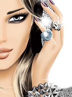 Fashionable DJ Girl by Jason Brooks illustrator