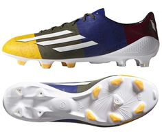 premium selection b69ee 2610d Adidas F50 Adizero Messi (Synthetic) TRX FG Soccer Cleats (Gold Green)