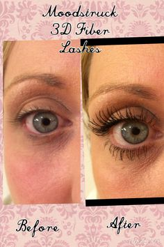 Check out my before and after picture using Younique Moodstruck 3D Fiber Lashes Mascara. It truly works and makes your eyes stand out from the crowd.