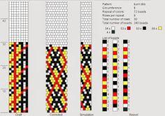 Tubular crochet bead diagram.