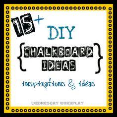 diy chalkboard paint chalk craft ideas tutorials