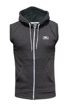 Bad Boy MMA Lifestyle Zip up Sleeveless Hoody Charcoal – Small Mma Hoodies, Sweatshirts, Bad Boy Mma, Martial Arts Shop, Mma Clothing, Fight Wear, Sport Wear, Workout Gear, Bad Boys