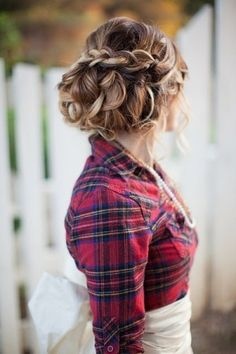 cute hair and awesome western wedding blog by Sairenz