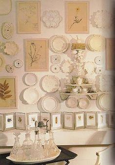Botanicals & creamware, divine!