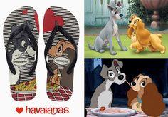 Com uma edição limitada para o Dia dos Namorados a Havaianas lança em parceria com a Disney versão 'A Dama e o Vagabundo'.