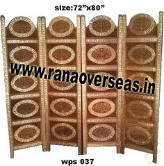 Wooden Partition Screen  For those that appreciate unique style folding screens,our hand carving abstract dividers may be a consideration. Developed from high quality sheesham wood and these partitions stand only in zig zag position. Wooden Partition Screen, Room dividers are often used in commercial offices or homes to seperate rooms or to block light.
