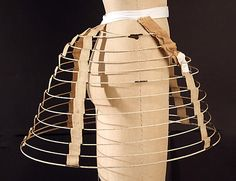"""Cage Cage crinoline """"Day's Patent Lined Clasp Skirt Date: 1860–69 Accession Number: C.I.43.126.42"""