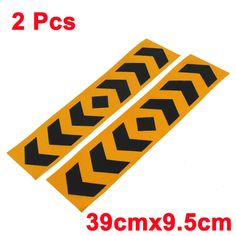 Workplace Safety Supplies Fashion Style 4pcs Reflective Warning Sticker Car Door Open Anti-collision Warning Red Decal Signs Day/night Visible