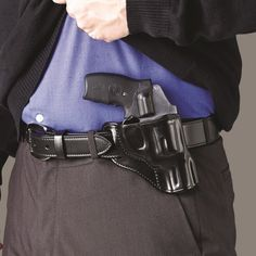 Galco is excited to introduce the Hornet™, a belt holster that carries a compact handgun in both crossdraw and the increasingly-popular appendix position. Sob Holster, Pistol Holster, Leather Holster, Ruger Revolver, Smith And Wesson Revolvers, Ccw Holsters, Custom Holsters, Best Concealed Carry, Concealed Carry Holsters