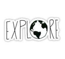 Explore the Globe III Sticker