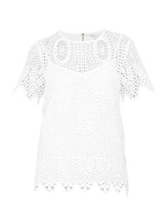 Darsee Scalloped Edge Lace Top