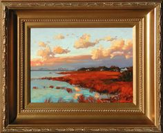 Pitt Street Bridge View, Mount Pleasant, South Carolina. Painting by Jennifer Smith Rogers, Anglin Smith Fine Art (http://anglinsmith.com/)