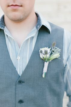Dusky Blue Groom. View more tips & ideas on our Facebook Page : https://www.facebook.com/BoutiqueBridalParty
