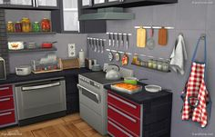 Dara Sims: Kitchen Decor Set • Sims 4 Downloads
