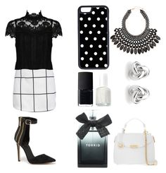 """""""working"""" by shellandciara on Polyvore featuring Alice + Olivia, Bebe, CellPowerCases, NARS Cosmetics, Essie, Torrid, H&M, Georgini and Versace"""