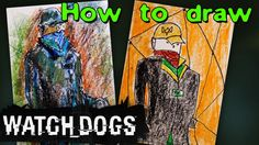 How to draw Aiden Pirs from Watch Dogs