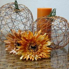 I love fall. the beginning of Pumpkin time. The smells and colors abound and it's the beginning of festive holidays for the rest of the year. Try one of these neat DIY projects for some festive decor.