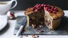 BBC - Food - Recipes : Vegetarian nut roast pie with cranberries