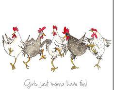 Dare To Be Different Greeting Card - Funny Chicken Card, Friendship, Hens - Wagen Sie zu verschiedenen Grußkarte lustiges Huhn Karte Birthday Cards For Her, Birthday Greeting Cards, Birthday Greetings, Happy Birthday, Card Birthday, Diy Birthday, Funny Birthday, Animal Birthday, Birthday Images