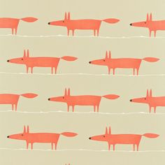 "Mr Fox, fabric. ""A friendly fox, low and long!"" From Scion available to order…"