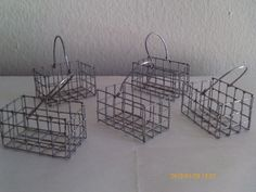 Miniature Wire Baskets  Economy Lot of 5  VERY SMALL  by Kountry, $4.50
