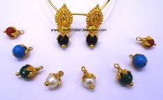 Changeable Drop Gold Earrings