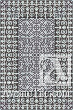 Cuban Heritage Design 220 is a flexible pattern for walls and floors. Historical pattern from Cuba and can be used with or without double border.